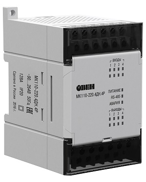 Модуль ввода-вывода МК110-4ДН.4Р  ОВЕН